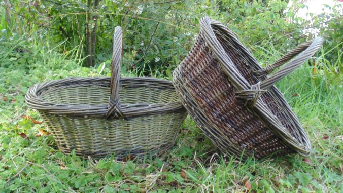 Two baskets in the grass by Hanna Van Aelst