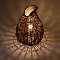 Basket Floor Lamp by Hanna Van Aelst
