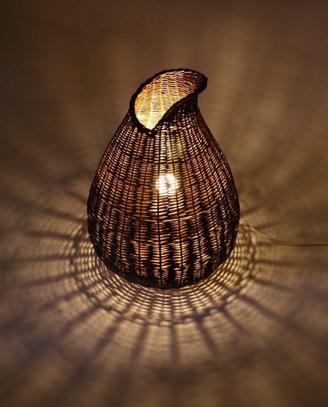 Basket Floor Lamp by Hanna Van Aelst