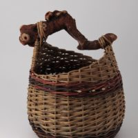 Basket with wood handle by Heike Kahle